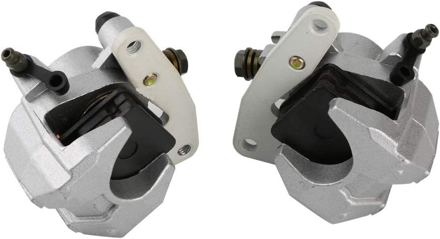 CQYD New Front Brake Calipers Set for Yamaha GRIZZLY 660 2002-2008 YFM660 with Pads