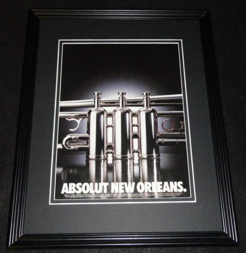 2001 Absolut New Orleans Vodka Framed 11x14 ORIGINAL Advertisement - New Orleans Vodka