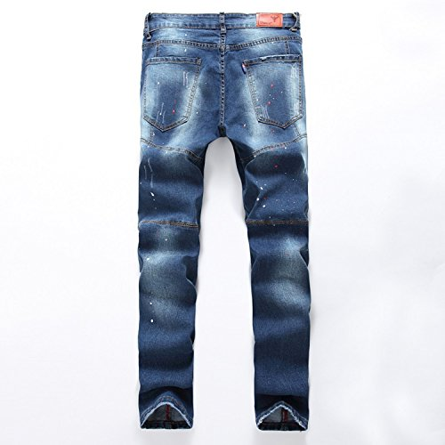 E.YUE Jeans-Herren Slim Fit Basic Style Stretch-Denim Jeans-Hose#103