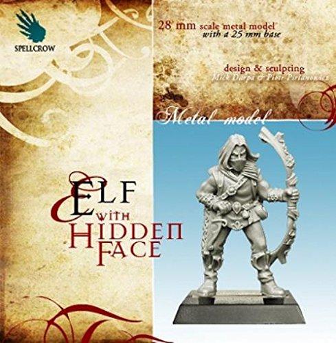 28mm Fantasy Miniatures: Elf with Hidden Face Warhammer Fantasy Wood Elves