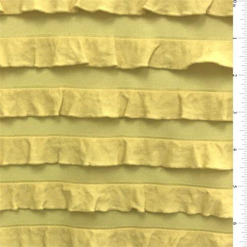 Yellow Ruffle (Citrus Yellow Ruffle Knit, Fabric By the Yard)