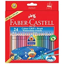 Faber-castell Highly Soluble Triangular Water Colour Pencils (Set of 24)