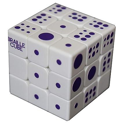 Amazon Com Speed Cube 3x3x3 3d Relief Effect Braille Magic Cube