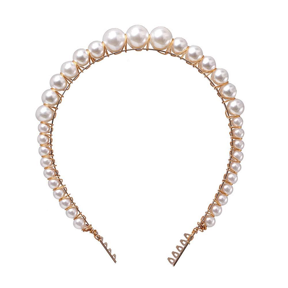 regalo Joyas para boda conchas naturales Diadema de perlas para mujer d/ía festivo