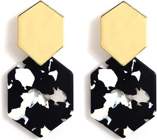 Earrings Women Acrylic Long Drop Dangle Acetate Geometric Chic Fashion Statement