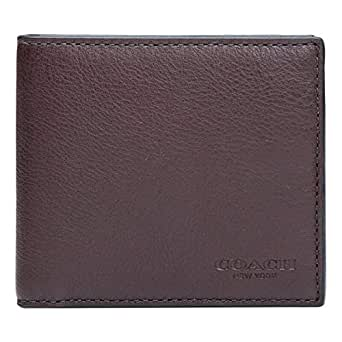 Coach Mahogany Leather For Men - Bifold Wallets