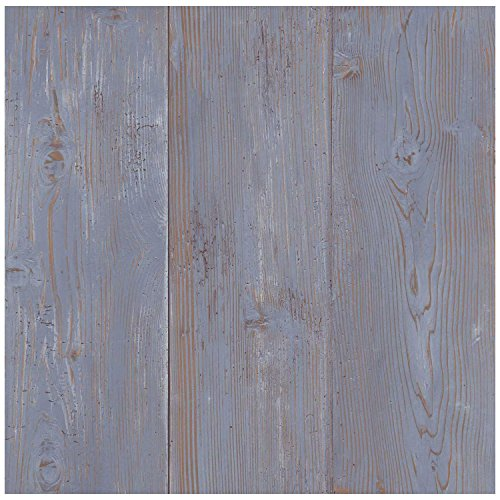 York Wallcoverings Lake Forest Lodge Cabin Boards Removable Wallpaper, Blue