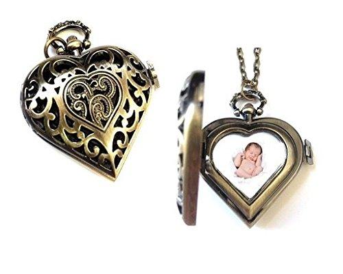 Open Filigree Heart Locket - 3