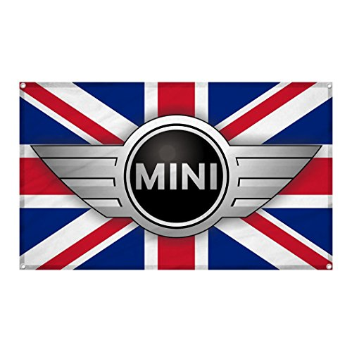 Mini Cooper Auto Car Logo Wall Hanging Flag Banner 3'x5' Ft Indoor/Outdoor (Team Logo Wall Hanging)