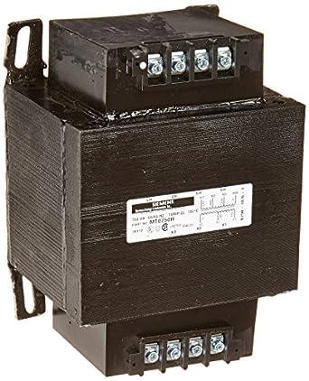 Siemens MT0750H Industrial Power Transformer, Domestic, 230/460/575 Primary Volts 50/60Hz, 95/115 Secondary Volts, 750VA Rating