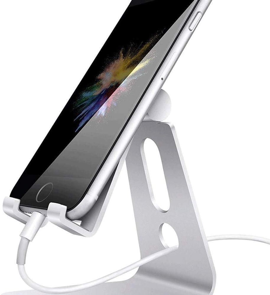 DEjh Creative Metal Desktop Stand Suitable for Switch Adjustable Bracket Suitable for Mobile Phone Flat Universal Bracket Suitable for Switch Color : Pink