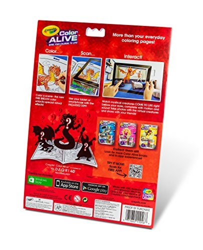 amazoncom crayola color alive action coloring pages mythical creatures toys games
