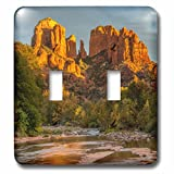 3dRose Danita Delimont - Deserts - USA, Arizona, Sedona, Cathedral Rock - Light Switch Covers - double toggle switch (lsp_278451_2)