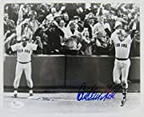 #5: Signed Carlton Fisk Photo - 8x10 1975 World Series Game 6 HR - JSA Certified - Autographed MLB Photos