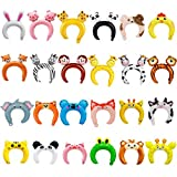 24 Pack Inflatable Headband Cute Animal Headband Balloon Hair Band for kids & Adults Party Favors