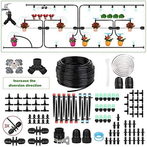 Sotor DIY Plant Irrigation System,Adjustable Automatic Watering Saving System Universal Faucet with 4 Different…