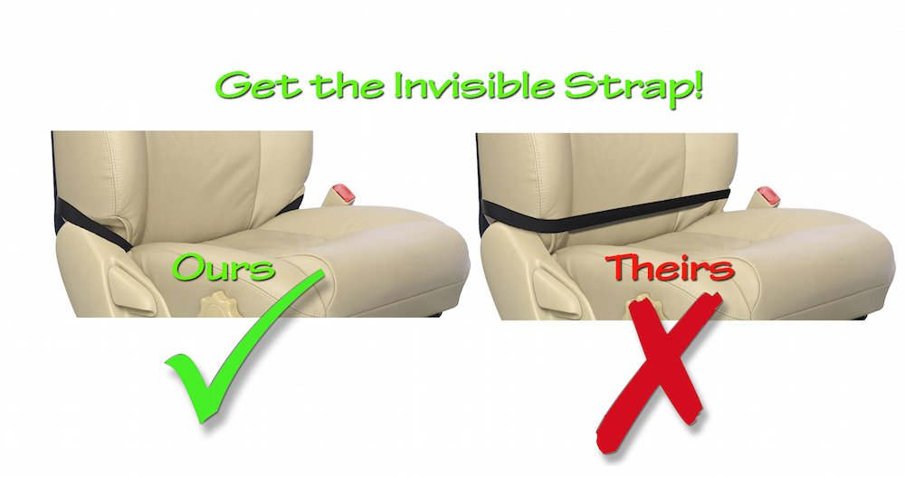 Tike Smart Premium Kick Mats - Luxury Seat Back Protectors and Seat Covers with Invisible Strap - 2-Pack - Black by Tike Smart (Image #3)