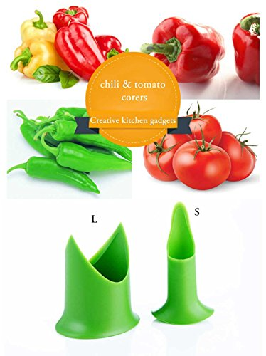 Money coming shop 2pcs/set Nordic Creative Kitchen gadgets chili tomato corers fruit & vegetable pepper corer home&restaurant&hotel cooking (Cutthroat Island Costumes)