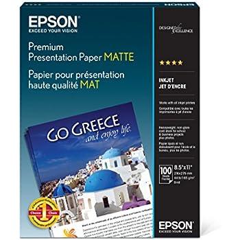 Amazon Com Epson Premium Presentation Paper Matte 8