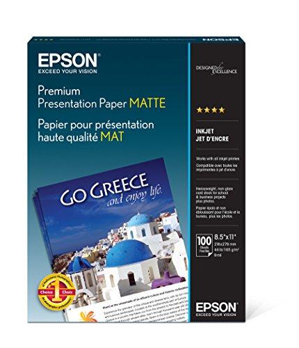 (Epson Premium Presentation Paper MATTE (8.5x11 Inches, 100 Sheets) (S042180))