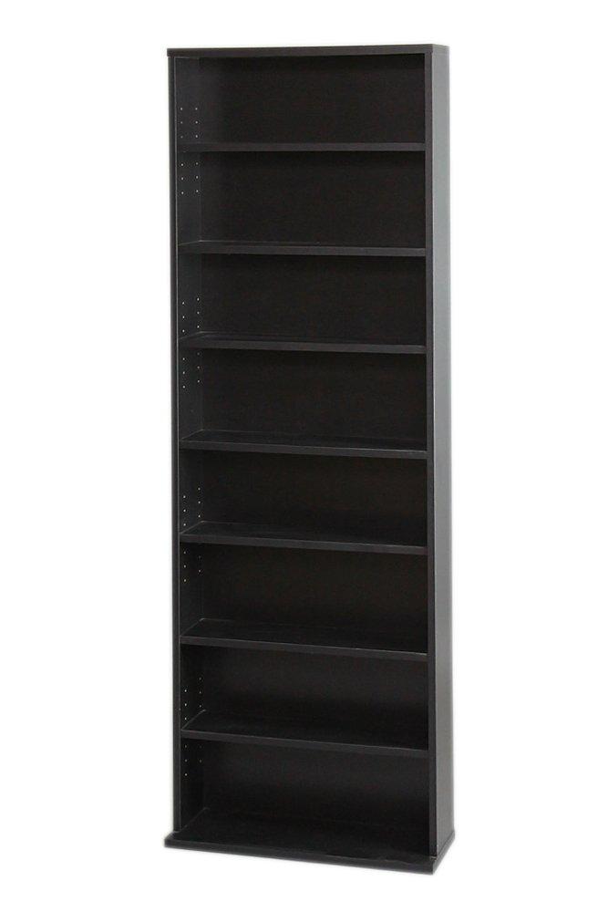 サンニード 薄型 本棚 S-1860 書棚 黒 ブラック 木製 幅60cm 高さ180cm A-L1 B010ACZ3RW Parent ブラック