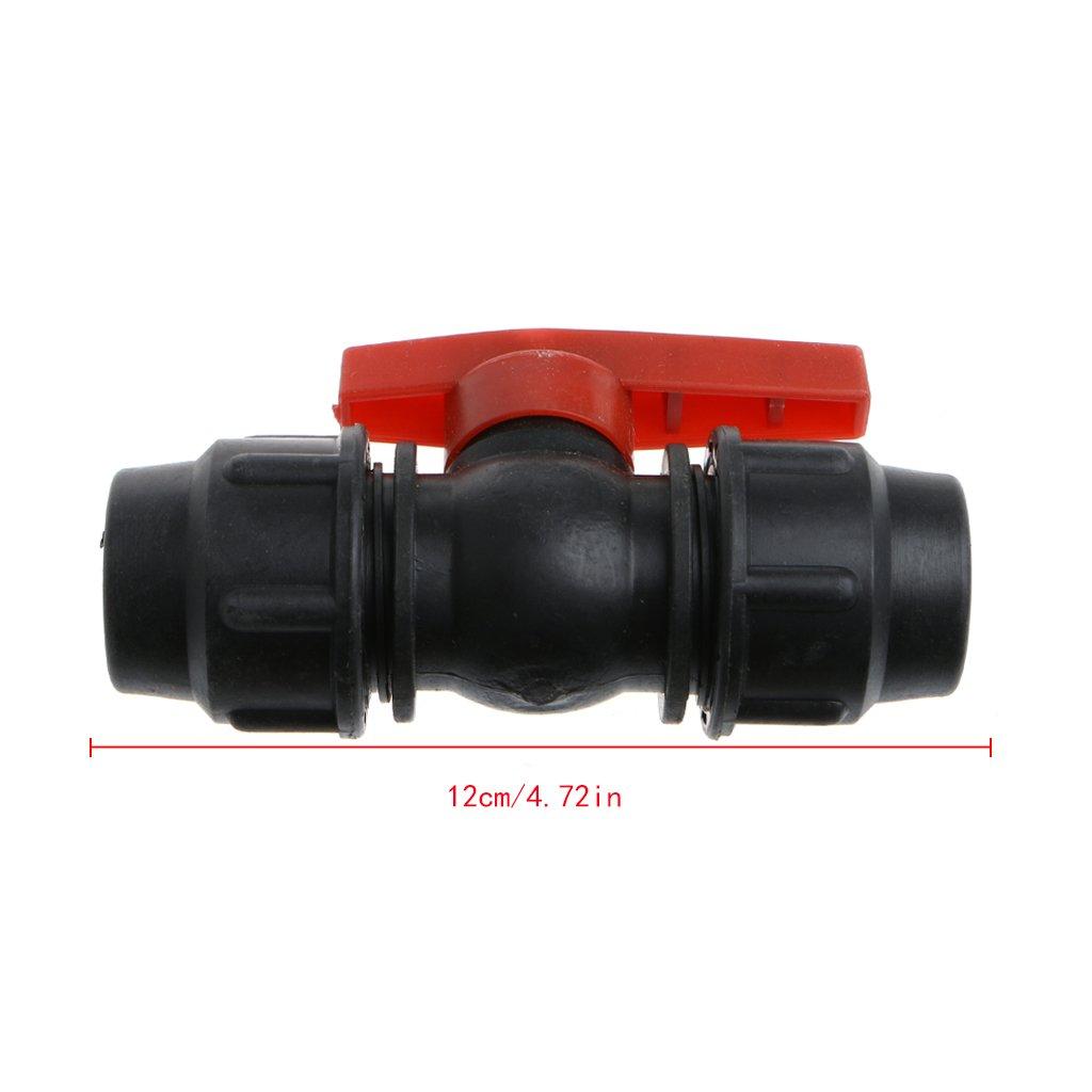 20 mm accesorios Conector de v/álvula r/ápida para tubo de agua 30 mm 25 mm tubo de polietileno FangWWW