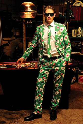 Morris Costumes Poker Face Suit Size - Face Costume Poker