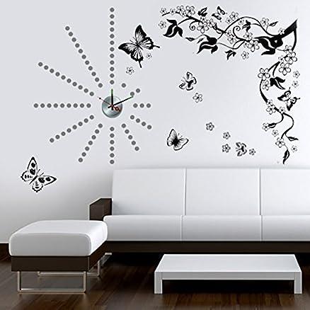 Walplus - Stickers decalcabili da parete con motivo a farfalle e ...