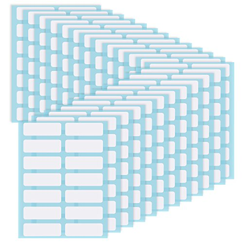 Willbond File Folder Labels Name Label Adhesive Filing Envelopes Tags Bottle Cup White Rectangle Label Price Stickers, 0.5 x 1.5 Inch, Pack of 336 (24) -