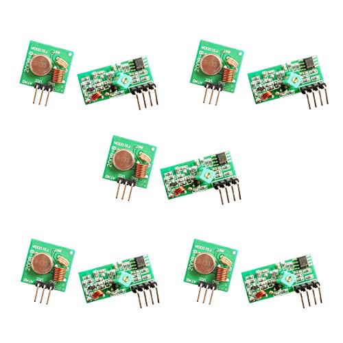 HiLetgo 5pcs 433MHz RF Wireless Transmitter and Receiver Module Link Kit for Arduino/Arm/McU/Raspberry pi/Wireless DIY