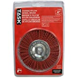 Task Tools T25652 Coarse Nylon Wheel Brush, 4-Inch Diameter