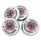 Coasters Set of 4 Beer Bottle Cap Coaster for Drinks - Desktop Protection Prevent Furniture Damage - Tabletop Drink Coasters