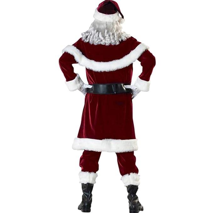 MERRYHE Escenario De Navidad para Hombre Traje De Papá Noel ...