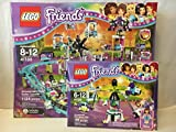 LEGO Friends Amusement Park Roller Coaster & LEGO Friends Amusement Park Space Ride
