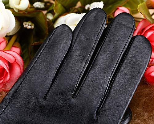 Guanti Warm T Da Esterno Fashion Unita Black In Donna Winter Tinta Accogliente Pelle f7rxfn