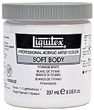 Liquitex Professional Soft Body Acrylic Paint 8-Ounce Jar, Titanium White