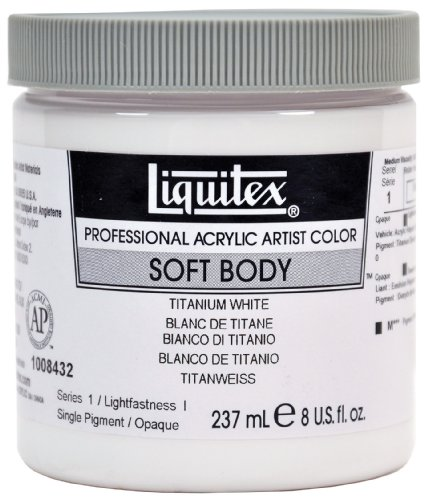 Liquitex Professional Soft Body Acrylic Paint 8-oz jar, Titanium White
