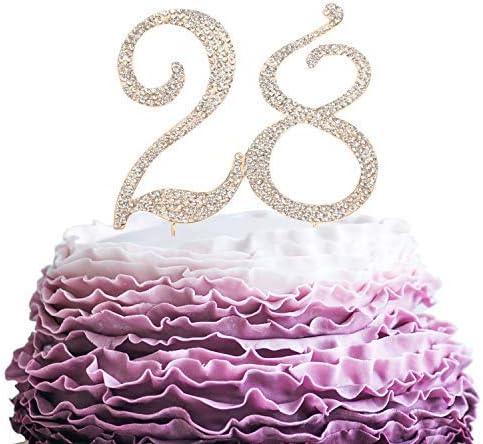 Anniversario Di Matrimonio 51 Anni.Queen54ferna Topper Per Torta Di Compleanno Per 28 Anni Con