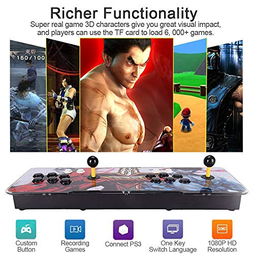 HAAMIIQII Pandora's Key 7 3D Home Arcade Game Console   No Games Pre-Loaded   Full HD (1920x1080) Video   2 Player Game Controls   Add More Games   Support 4 Players   HDMI/VGA/USB/AUX Audio Output by HAAMIIQII (Image #1)