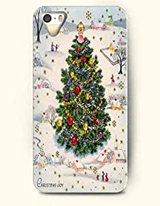 chen-shop design SevenArc iPhone 5 5s Case - Merry Xmas Red And Green Christmas Tree high quality