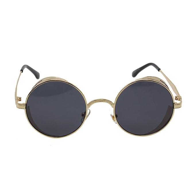 MMRM mujeres Gafas de sol Steampunk gafas de sol redondas ...