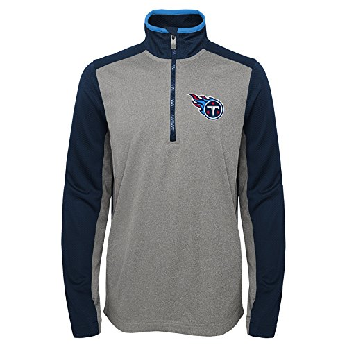 Detroit Lions Outerstuff NFL Youth Boys Mainframe Long Sleeve Performance Tee-Light Charcoal-L 14-16