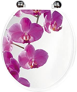 Superbe Tendance   Abattant Wc Orchidee   Taille Universelle