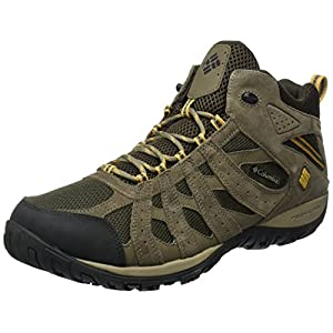 Columbia Men's Redmond Mid Waterproof Hiking Boot, Cordovan, Dark Banana, 11 D US