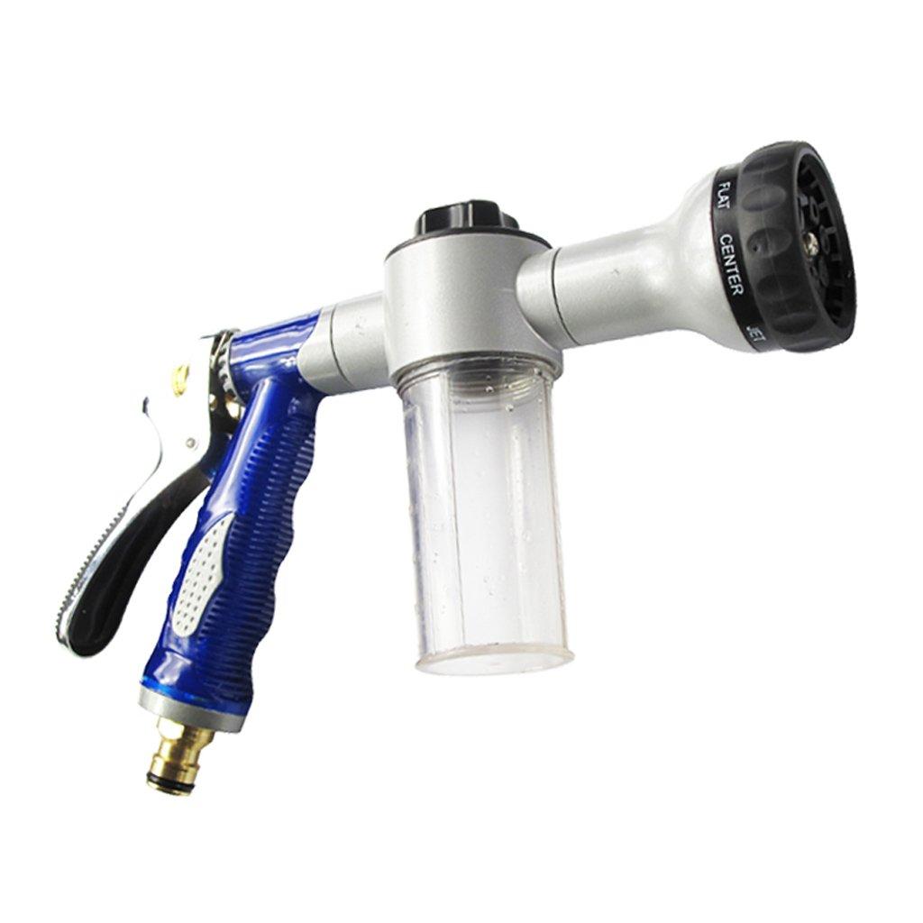 Autowäsche-Schaum-Wasser-Gewehr-Hochdruck-Auto-Schaum-Wasser-Spray-Gewehr-Haushalts-Bürsten-Auto-Luftblasen-Auto-waschende Auto-brennende Blume Acht Arten von Funktionen ( farbe : C )