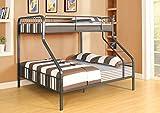 1PerfectChoice Caius Gunmetal Twin XL Queen Bunk Bed