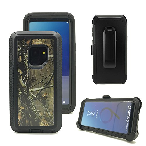 Harsel Triple Layer Camouflage Defender Series High Impact Resistant Hybrid Rugged Hard Bumper Soft TPU Silicone Covers Cases with Belt Clip Holster for Samsung Galaxy -