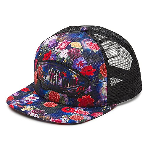 (Vans Off The Wall Women's Beach Girl Novelty Trucker Snapback Hat Cap - Galaxy Floral)