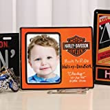 "4"" x 6"" Harley Davidson Kids Orange Photo Picture Frame"