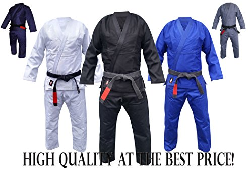 Your Jiu Jitsu Gear Brazilian Jiu Jitsu Uniform A3 Black Light Free BJJ White Belt